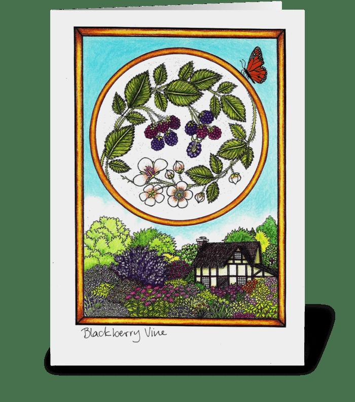 Blackberry Vine greeting card