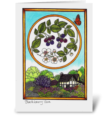 Blackberry Vine greeting card