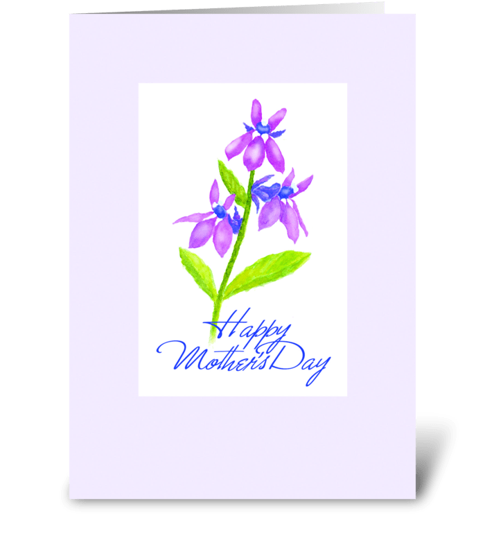 Remember Mother's Day greeting card