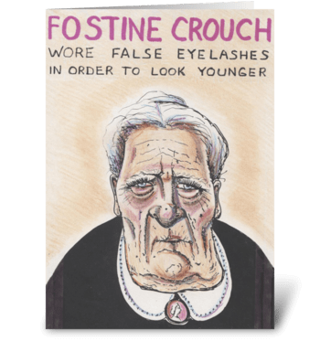 Fostine greeting card