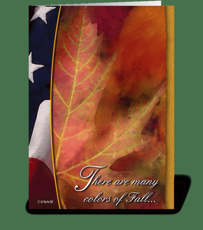 Patriotic Thanksgiving Card greeting card