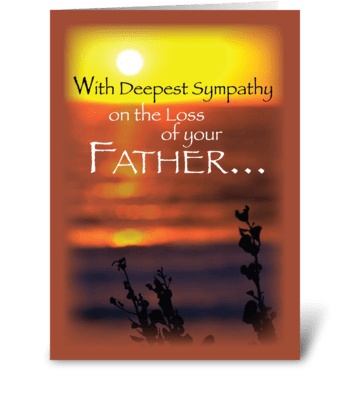 Father Sympathy, Sunset  greeting card