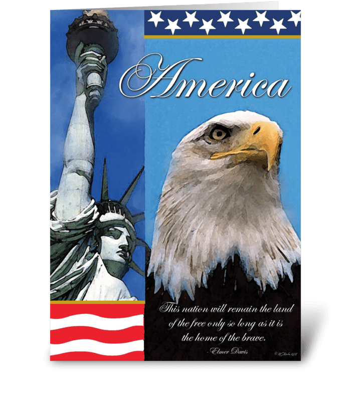 Symbols of Freedom Patriotic Card greeting card