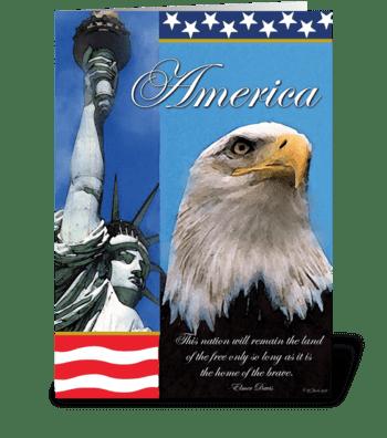 Symbols of Freedom Patriotic Card greeting card