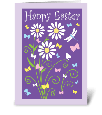 Simply Happy Easter greeting card