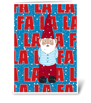 Santa Gnome greeting card