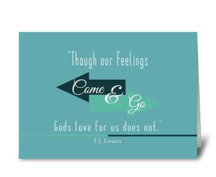 Cs Lewis quote card greeting card