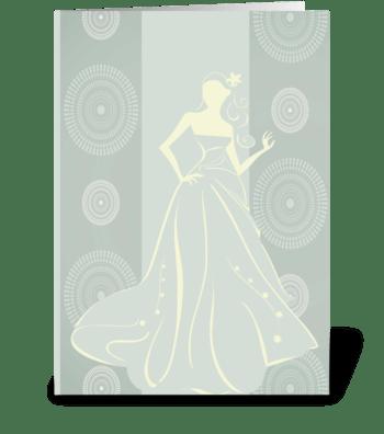 Bride Series 2 Full greeting card