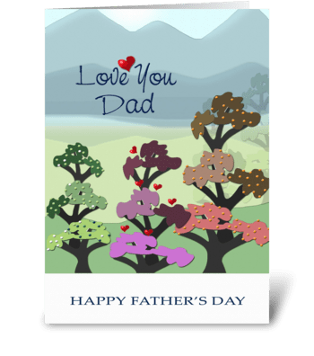 Father's Day, Love you Dad greeting card