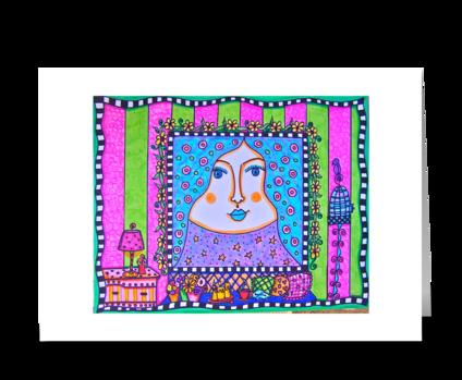 Hello Moon greeting card