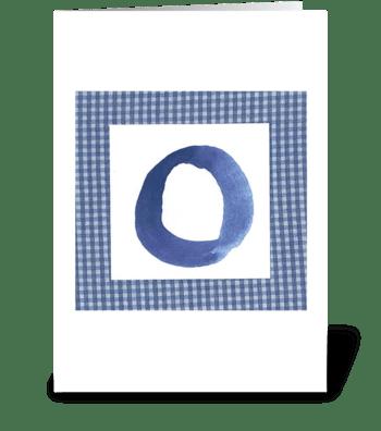 O - Baby Boy greeting card