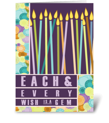 Every Wish is a Gem - Birthday greeting card