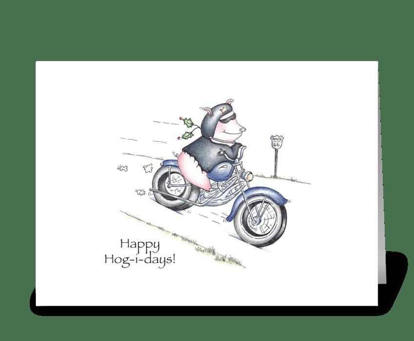 Happy Hog-i-days greeting card