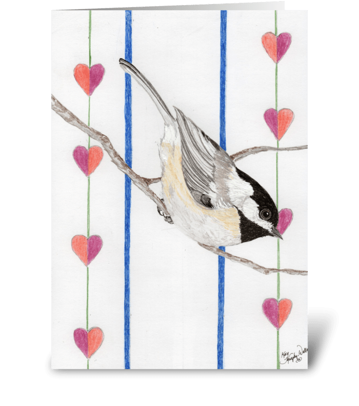 Valentine Chickadee greeting card
