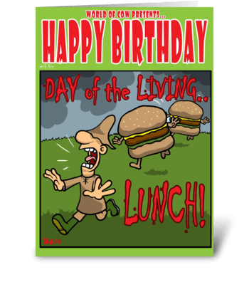 Day of the Living LUNCH! greeting card