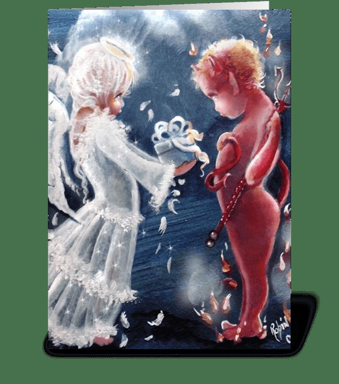 Gift Bearing Angel greeting card