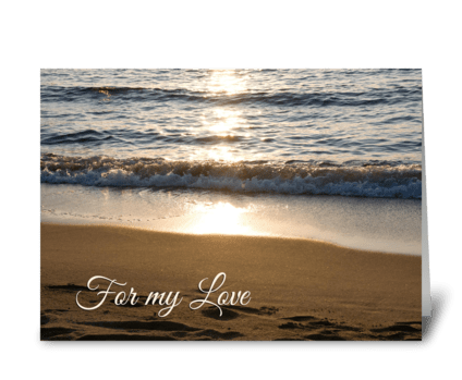 Happy Anniversary Beach at Sunset greeting card