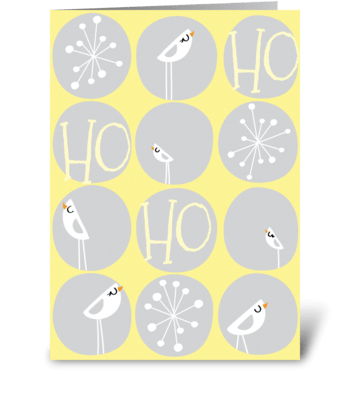 Winter Wonderland in Yellowe and Gray greeting card