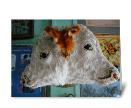 Two Headed Cow greeting card