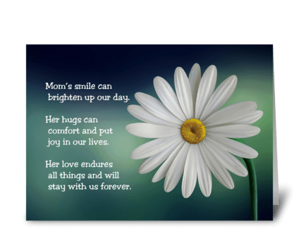Mother's Day Card With Daisy greeting card