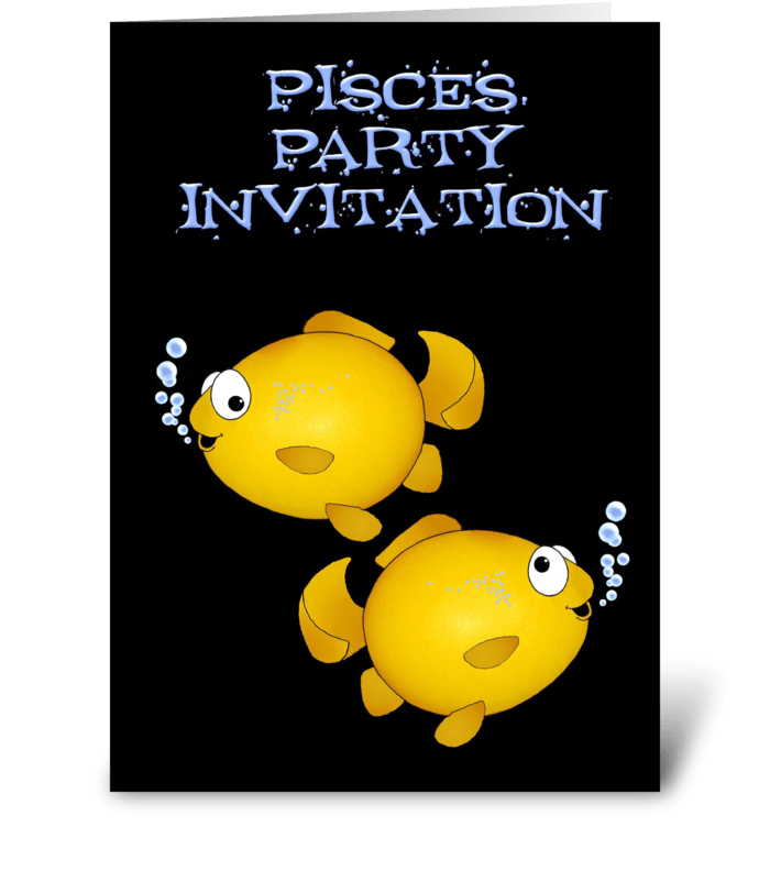 Pisces Birthday Party Invitation greeting card