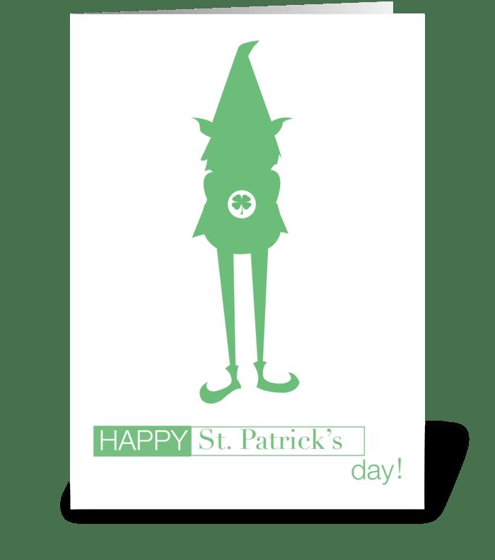 St. Patricks Day Gnome greeting card
