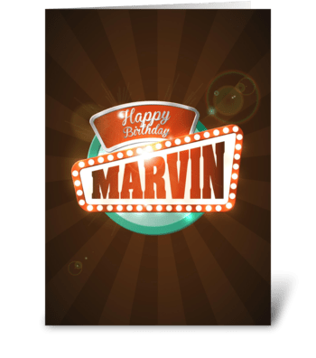 Happy Birthday Marvin greeting card