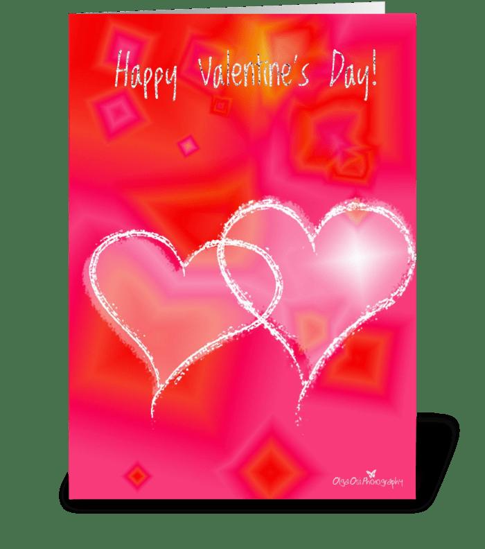 Diamond hearts greeting card