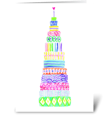 13 layer birthday cake greeting card