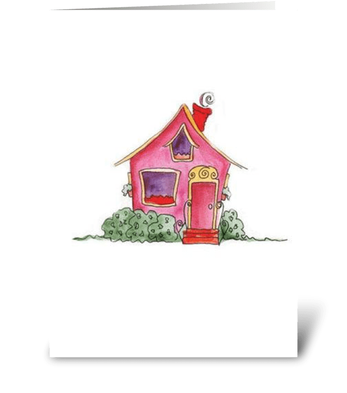 Pink Cottage Series: Welcome! greeting card
