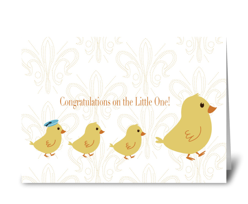 Congratulation On the Little One! greeting card