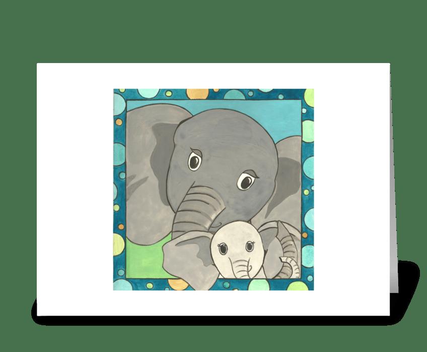 Elliot's Elephants greeting card
