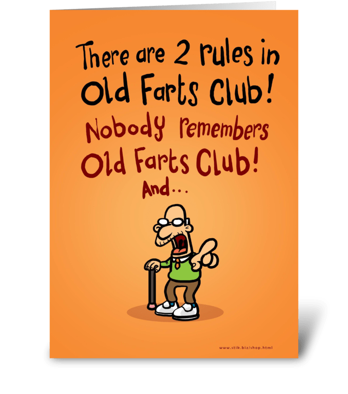 Old Farts Club Father's Day card greeting card