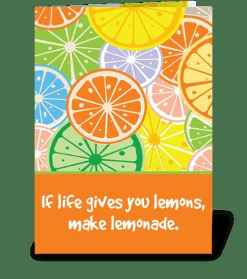 Lemon Head greeting card