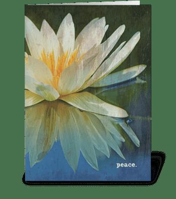 peace. greeting card