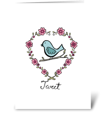 Tweet greeting card