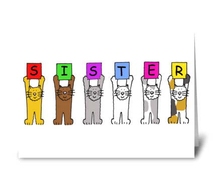 Sister greeting card