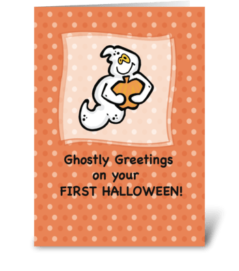 First Halloween, Ghostly Greetings greeting card