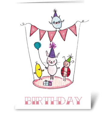 Birthday Bunting Party greeting card