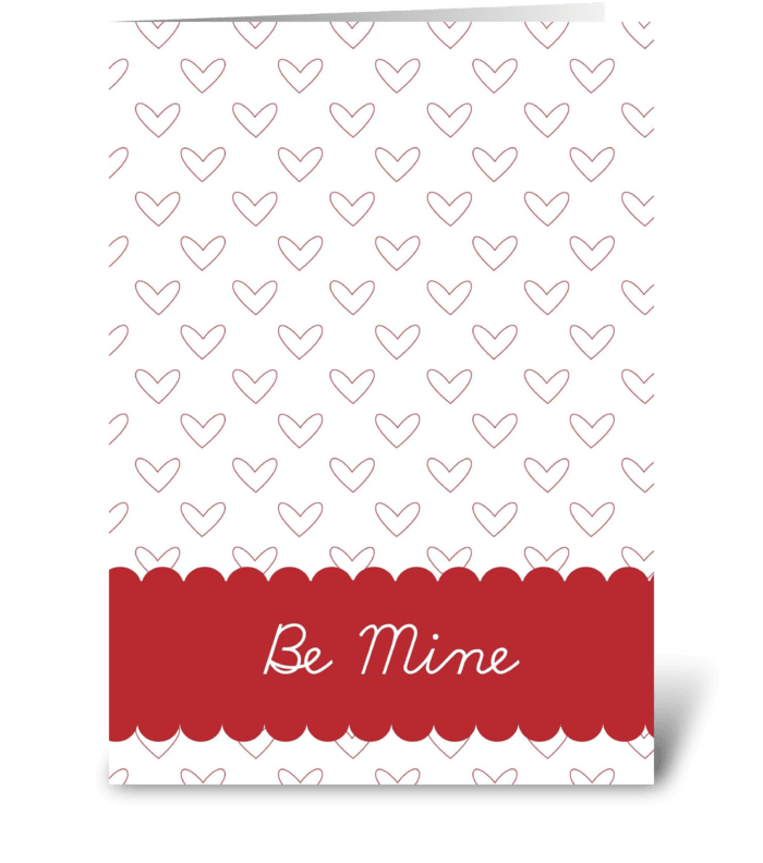 Be Mine Hearts greeting card