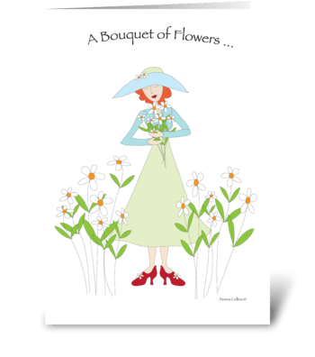Get Well Bouquet greeting card