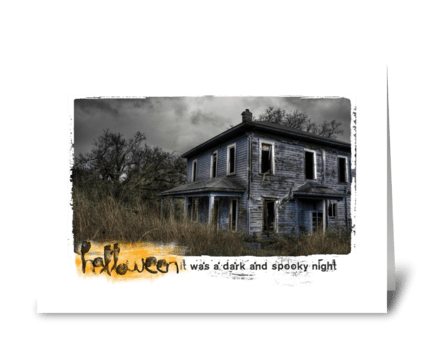 a dark and spooky night greeting card