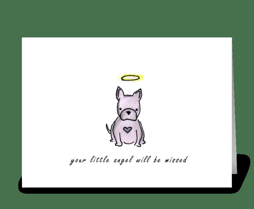 Dog Angel greeting card