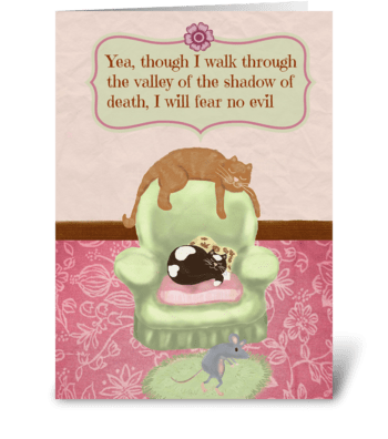 Fear No Evil greeting card