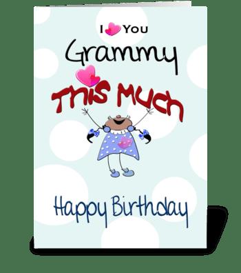 to Grammy, Happy Birthday greeting card