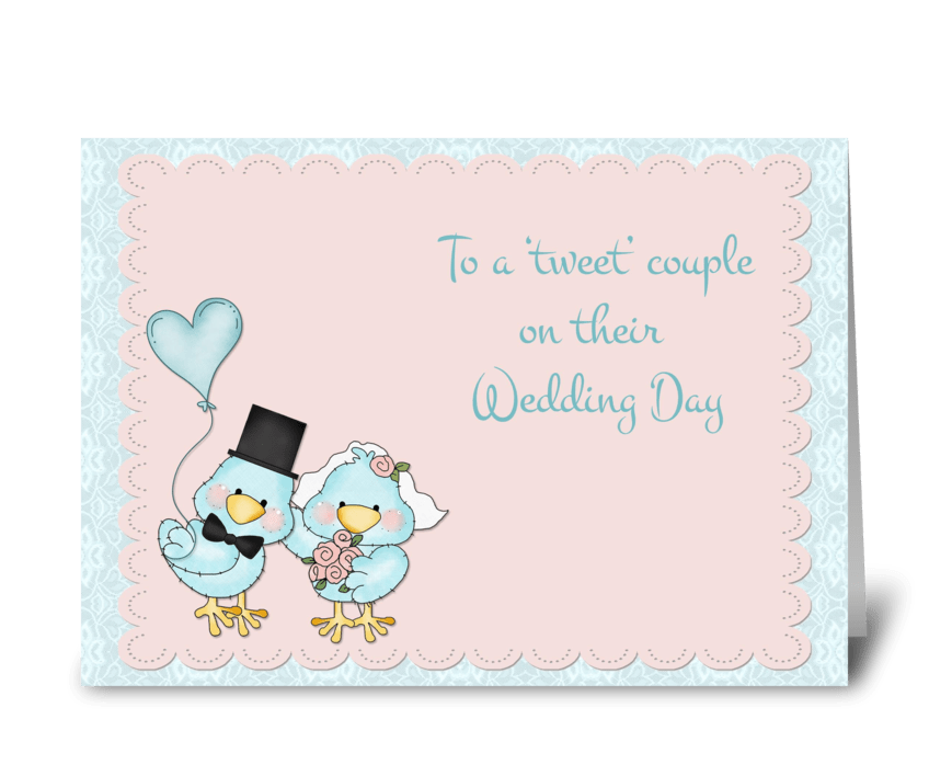 Blue Birds, Wedding Congratulations greeting card