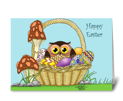 Easter Owl greeting card