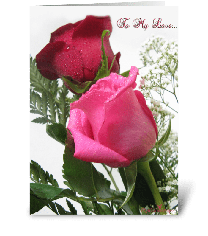 To my love... greeting card