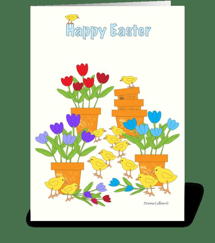 Easter Peeps greeting card