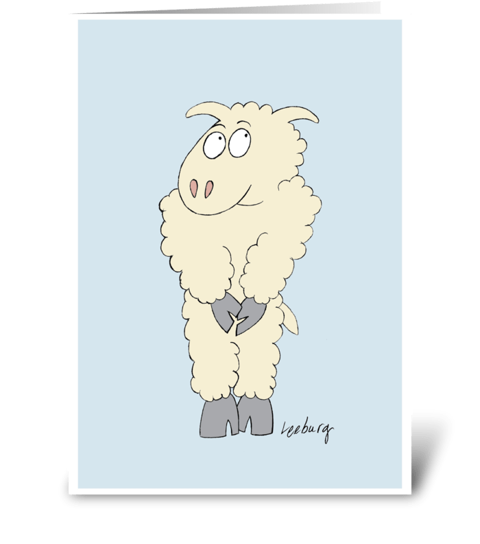 Sheepish forgiveness send this greeting card designed by leeburg sheepish forgiveness greeting card m4hsunfo